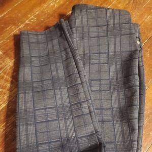 Ivanka Trump grey plaid slacks size Medium